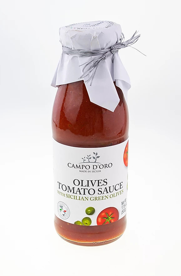 Tomato Pasta Sauce from Sicily with Olives (500 gr.)