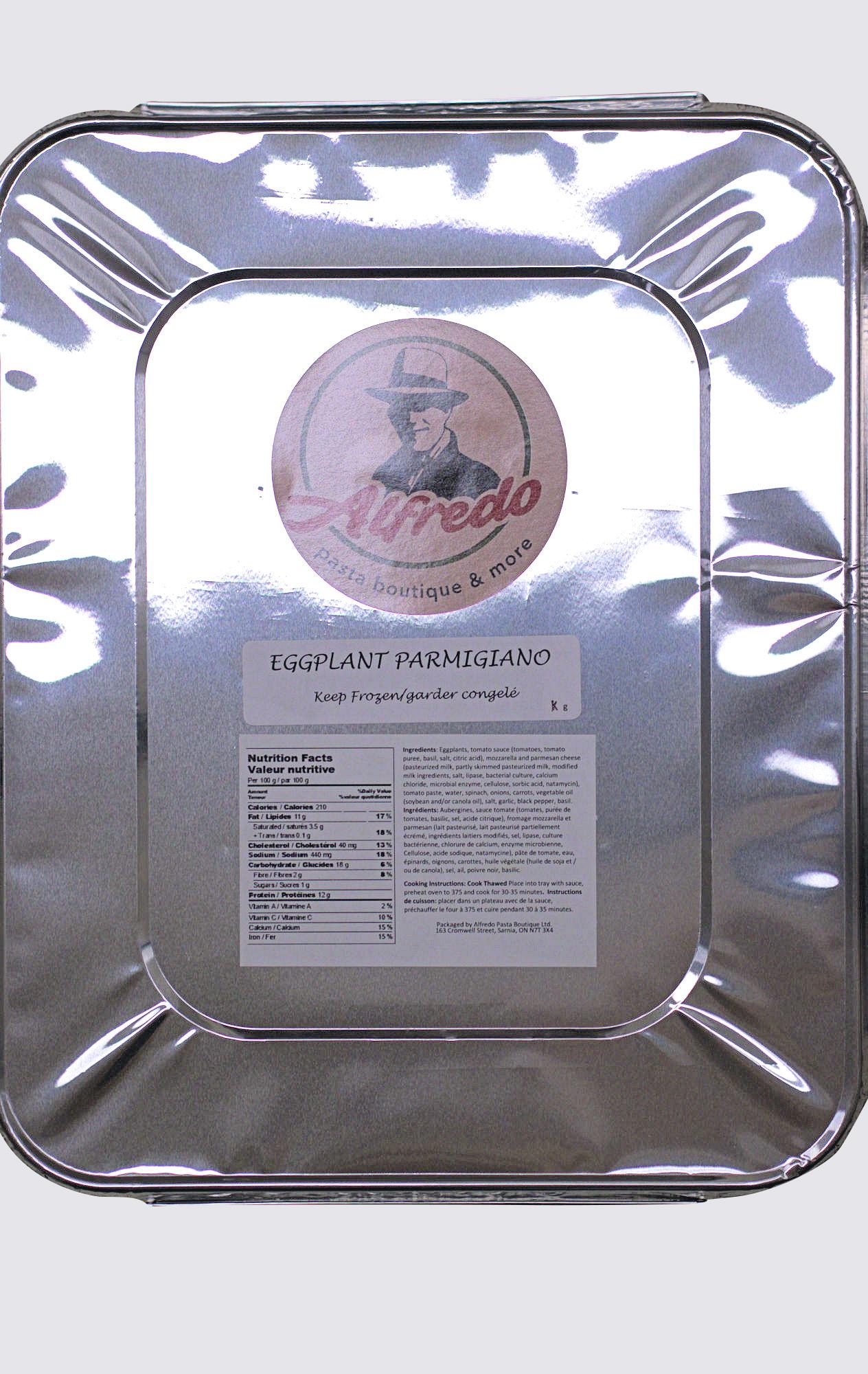 Eggplant Parmigiano - tray